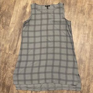Eileen Fisher silk plaid tank dress size small